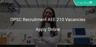 OPSC Recruitment AEE 210 Vacancies