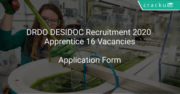 DRDO DESIDOC Recruitment 2020 Apprentice 16 Vacancies