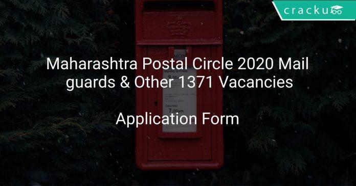 Maharashtra Postal Circle 2020 Mail guards & Other 1371 Vacancies