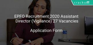 EPFO Recruitment 2020 Assistant Director (Vigilance) 27 Vacancies