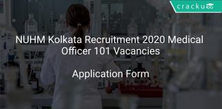 NUHM Kolkata Recruitment 2020 Medical Officer 101 Vacancies