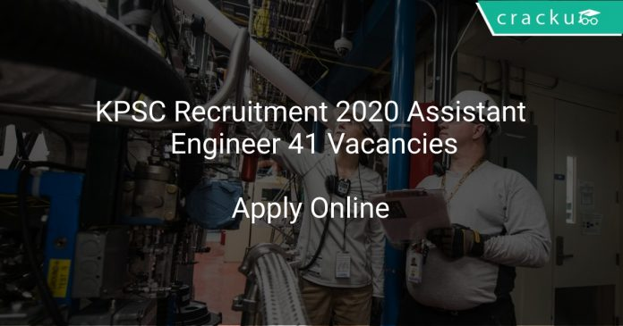KPSC Recruitment 2020 Assistant Engineer 41 Vacancies