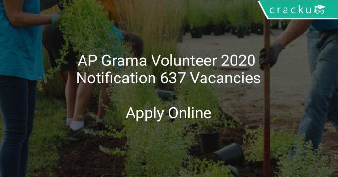 AP Grama Volunteer 2020 Notification 637 Vacancies