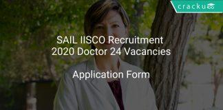 SAIL IISCO Recruitment 2020 Doctor 24 Vacancies