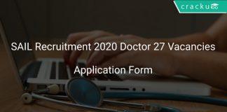 SAIL Recruitment 2020 Doctor 27 Vacancies