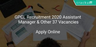 GPCL Recruitment 2020 Assistant Manager & Other 37 Vacancies