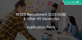 RITES Recruitment 2020 DGM & Other 45 Vacancies