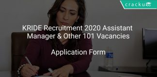 KRIDE Recruitment 2020 Assistant Manager & Other 101 Vacancies