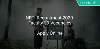 NRTI Recruitment 2020 Faculty 39 Vacancies