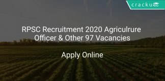 RPSC Recruitment 2020 Agriculrure Officer & Other 97 Vacancies