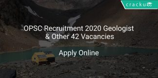 OPSC Recruitment 2020 Geologist & Other 42 Vacancies