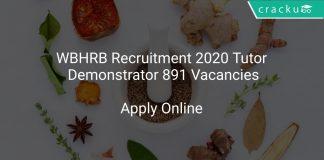 WBHRB Recruitment 2020 Tutor/ Demonstrator 891 Vacancies
