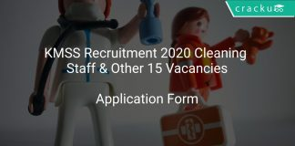 KMSS Recruitment 2020 Cleaning Staff & Other 15 Vacancies