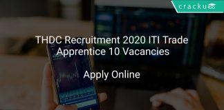 THDC Recruitment 2020 ITI Trade Apprentice 10 Vacancies