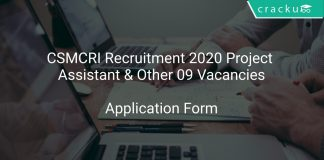 CSMCRI Recruitment 2020 Project Assistant & Other 09 Vacancies