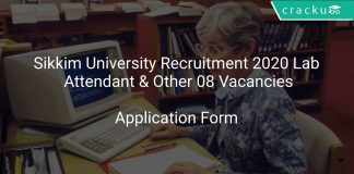 Sikkim University Recruitment 2020 Lab Attendant & Other 08 Vacancies