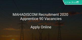 MAHADISCOM Recruitment 2020 Apprentice 90 Vacancies