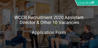 WCCB Recruitment 2020 Assistant Director & Other 10 Vacancies