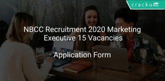 NBCC Recruitment 2020 Marketing Executive 15 Vacancies