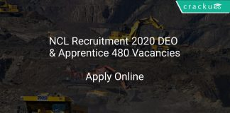 NCL Recruitment 2020 DEO & Apprentice 480 Vacancies