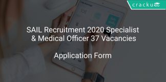 SAIL Recruitment 2020 Specialist & Medical Officer 37 Vacancies
