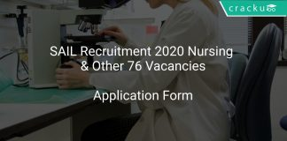 SAIL Recruitment 2020 Nursing & Other 76 Vacancies