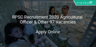 RPSC Recruitment 2020 Agricultural Officer & Other 97 Vacancies
