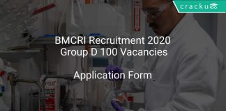 BMCRI Recruitment 2020 Group D 100 Vacancies