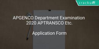 APGENCO Department Examination 2020 APTRANSCO Etc.