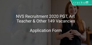 NVS Recruitment 2020 PGT, Art Teacher & Other 149 Vacancies