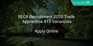 SECR Recruitment 2020 Trade Apprentice 413 Vacancies