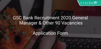 GSC Bank Recruitment 2020 General Manager & Other 90 Vacancies