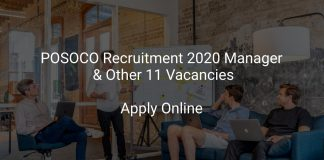 POSOCO Recruitment 2020 Manager & Other 11 Vacancies