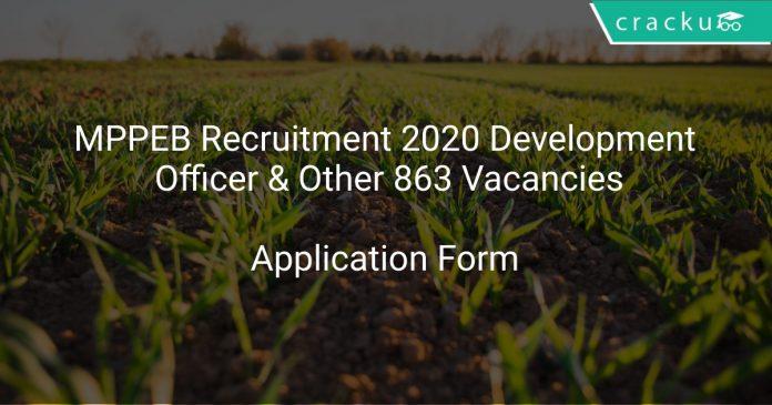 MPPEB Recruitment 2020 Development Officer & Other 863 Vacancies