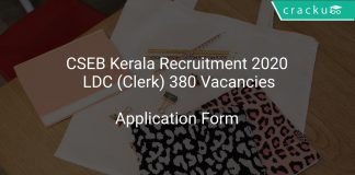 CSEB Kerala Recruitment 2020 LDC (Clerk) 380 Vacancies