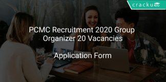 PCMC Recruitment 2020 Group Organizer 20 Vacancies