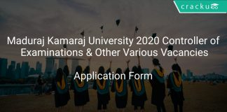Maduraj Kamaraj University Recruitment 2020 Controller of Examinations & Other Various Vacancies