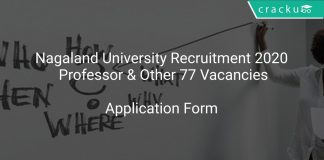 Nagaland University Recruitment 2020 Professor & Other 77 Vacancies