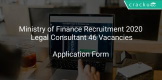 Ministry of Finance Recruitment 2020 Legal Consultant 46 Vacancies