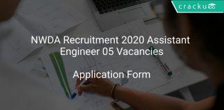 NWDA Recruitment 2020 Assistant Engineer 05 Vacancies