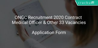 ONGC Recruitment 2020 Contract Medical Officer & Other 33 Vacancies