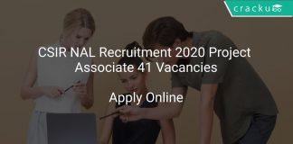 CSIR NAL Recruitment 2020 Project Associate 41 Vacancies