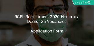 RCFL Recruitment 2020 Honorary Doctor 26 Vacancies