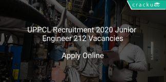 UPPCL Recruitment 2020 Junior Engineer 212 Vacancies