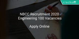 NBCC Recruitment 2020 Engineering 100 Vacancies