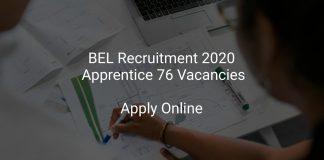 BEL Recruitment 2020 Apprentice 76 Vacancies