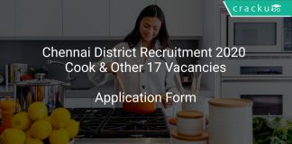 Chennai District Recruitment 2020 Cook & Other 17 Vacancies