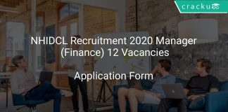 NHIDCL Recruitment 2020 Manager (Finance) 12 Vacancies