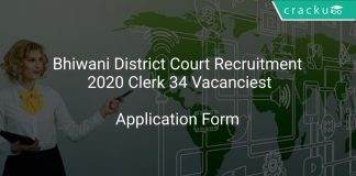 Bhiwani District Court Recruitment 2020 Clerk 34 Vacancies