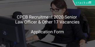 CPCB Recruitment 2020 Senior Law Officer & Other 17 Vacancies